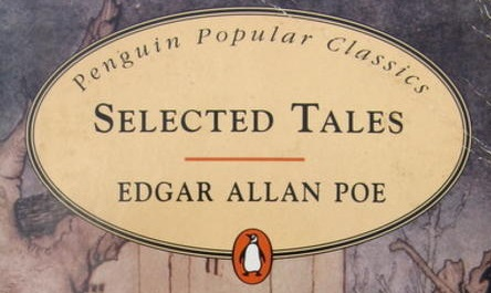 Partial Cover of Selected Tales By Edgar Allan Poe