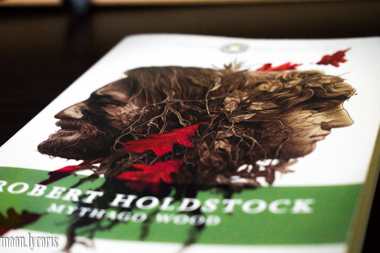 Partial Cover of Mythago Wood by Robert Holdstock
